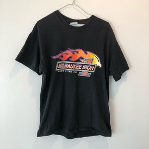 Vintage Milwaukee Iron tee size L